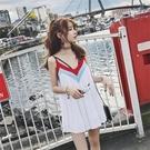 露背洋裝 小個子仙女超仙吊帶短裙泰國海灘裙寬鬆露背連身裙海邊度假沙灘裙【快速出貨】