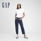 Gap女裝 時尚純棉寬鬆牛仔褲 660528-深靛藍