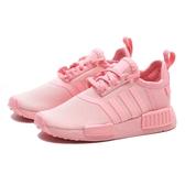 ADIDAS 慢跑鞋 NMD-R1EL I 全粉 運動鞋 鞋帶 小童 (布魯克林) FX7165