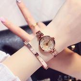 手錶女學生韓版簡約 潮流 ulzzang休閒大氣小錶盤chic復古時尚錶igo     俏女孩