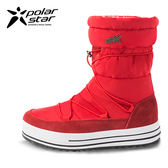 PolarStar 女 防潑水 保暖雪鞋│雪靴『威尼斯紅』P16658.(內厚鋪毛)防滑鞋底.雪地靴.非UGG靴.雪地必備
