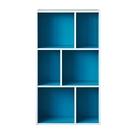 空櫃 書櫃 收納櫃【收納屋】創意六格三層櫃-土耳其藍& DIY組合傢俱