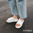 PAPORA厚底休閒涼拖鞋KB373黑/白/粉