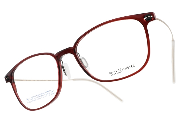 VYCOZ 光學眼鏡 MISTER RED (透紅-金) 植粹環保簡約鏡框 # 金橘眼鏡