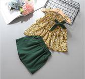 女寶寶夏裝洋氣套新款夏季兒童兩件套 4色