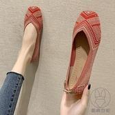 老北京布鞋女春夏季百搭平底淺口單鞋一腳蹬軟底孕婦鞋子【貼身日記】