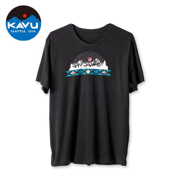 西雅圖 KAVU MTN Banner 棉質 T-Shirt 黑色 #8041