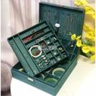 復古首飾盒公主飾品收納盒珠寶化妝盒雙層大號飾品盒手鐲項鏈收納
