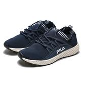 FILA  海軍深藍 編織 襪套 輕量 透氣 慢跑鞋 運動鞋 男 (布魯克林) 1J307R331