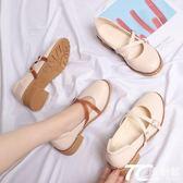 娃娃鞋/日系娃娃鞋瑪麗珍鞋平底圓頭小皮鞋森女復古淺口女