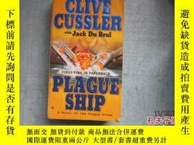 二手書博民逛書店英文原版書罕見CLIVE CUSSLER PLAGUE SHIP