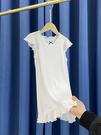 女童睡裙女夏季公主風薄款短袖空調服莫代爾高彈力中小童家居服簡約純色2021新款
