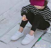 秋冬男童白鞋女童白色運動鞋學生幼兒園兒童小白鞋波鞋加絨棉童鞋『櫻花小屋』