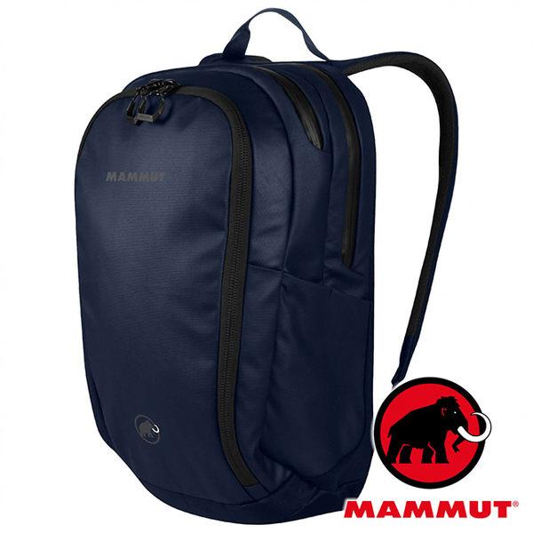 【MAMMUT 長毛象】Seon Shuttle 雙肩電腦背包 22 L『藍冠鴉』2510-03920 自助旅行 背包客 後背包