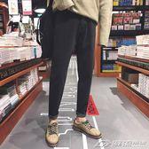 牛仔褲男士休閒褲黑色加厚褲子韓版潮流修身小腳港風   潮流前線