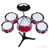 兒童爵士鼓 寶寶爵士鼓玩具超大號兒童1-3-6歲小孩初學者樂器敲打鼓男孩 LC2187 【VIKI菈菈】