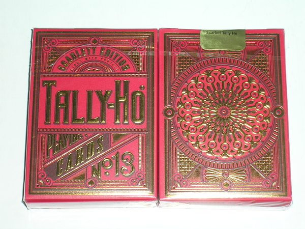 【USPCC 撲克】SCARLETT tally ho LTD deck 無序號