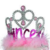 節慶王【W408274】公主羽毛寶石皇冠,萬聖節服裝/派對用品/舞會道具/cosplay服裝/角色扮演
