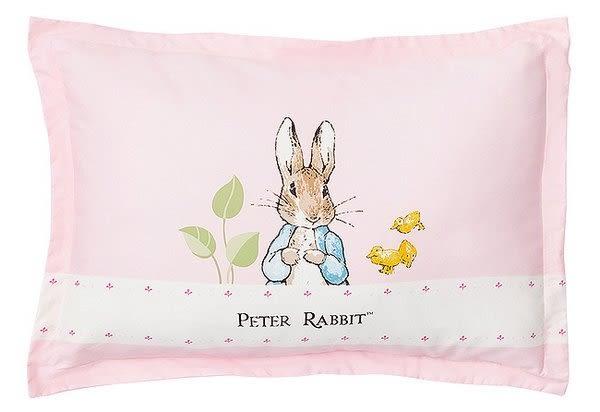 【奇哥】花園比得兔充綿兒童枕-粉紅