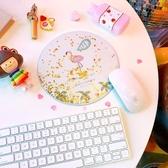 簡約流沙滑鼠墊可愛創意卡通少女桌面粉嫩學生小清新閃粉女滑鼠墊【快速出貨】