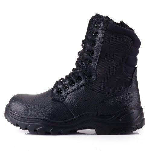 男款 橡膠止滑 網布 側拉鍊 專業安全鞋 高筒靴 工作靴 戰鬥靴 59鞋廊
