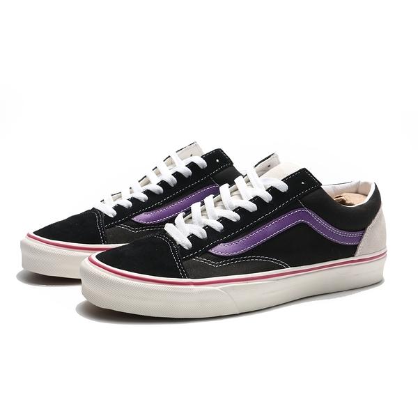 VANS 休閒鞋 STYLE 36 黑紫 麂皮 板鞋 滑板鞋 男女 (布魯克林) VN0A5FBM2TX