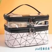 網紅化妝包女ins風超火小號便攜簡約洗漱包盒大容量旅行化妝品袋 OO7093『pink領袖衣社』