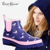 雨鞋   春夏款馬兒橡膠短筒女式雨鞋女士雨靴花園鞋防水鞋
