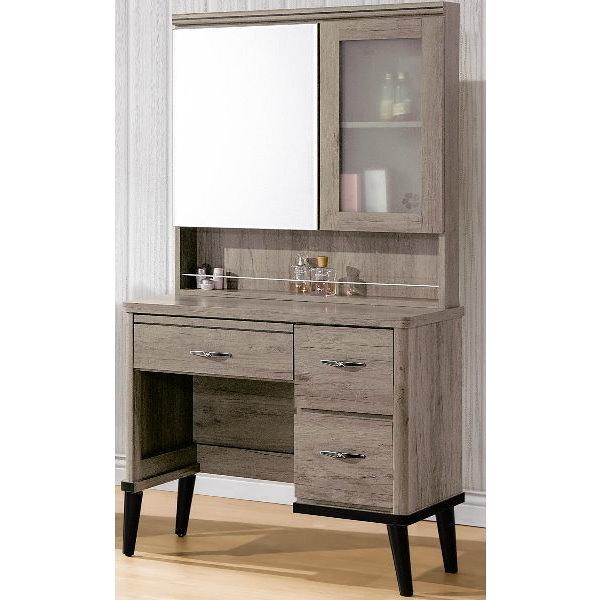 化妝台 鏡台 FB-529-6 古橡木3尺化妝台 (含椅)【大眾家居舘】