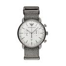 ARMANI 時尚編織商務休閒防水石英男士腕錶 AR11240