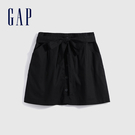 Gap女裝 簡約風格修身款A字型短裙 582512-正黑色