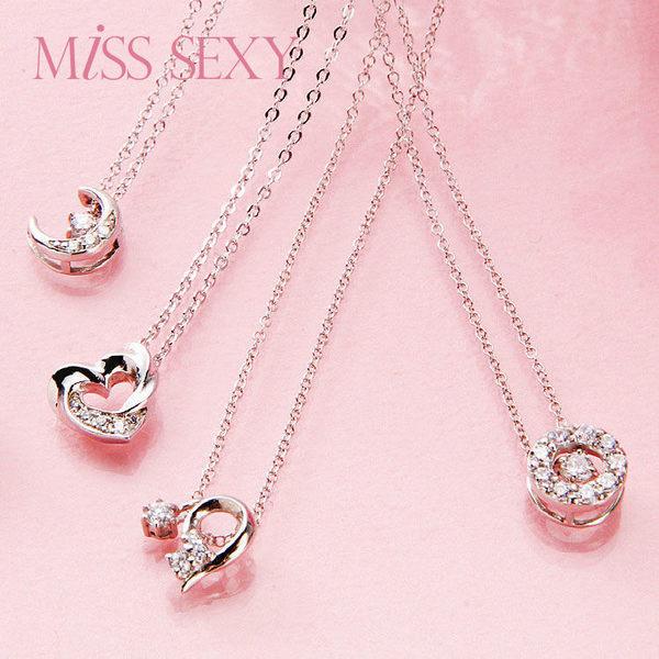 【MISS SEXY】MN306  SPARKLING NECKLACE 唯美晶鑽鎖骨鍊系列-心相映