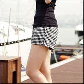 現貨+快速★短褲 夏裝寬鬆混棉格子顯瘦★ifairies【24328】
