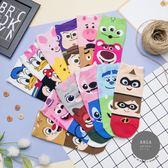 正韓直送【K0430 】韓國襪子 迪士尼拼接卡通人物短襪  韓妞必備短襪 卡通襪 阿華有事嗎