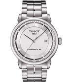 TISSOT 天梭 T-Classic Luxury 機械手錶-銀 T0864071103100