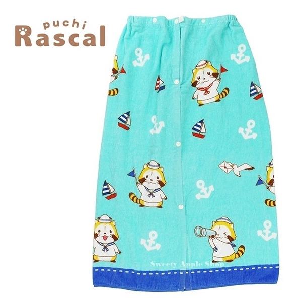 日本限定 Rascal 小浣熊 海軍風 毛巾浴裙 / 浴巾 80×120cm
