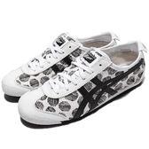 Asics 復古慢跑鞋 Mexico 66 白 黑 特殊圖騰 低筒 休閒鞋 復古 基本款 女鞋 亞瑟士【PUMP306】 D620N0190