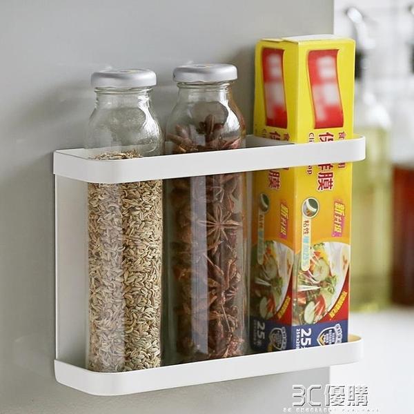 掛架 瓣瓣冰箱側壁磁吸置物掛架廚房多功能收納架保鮮袋調料瓶置物架 3C優購