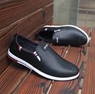 韓版板鞋男士雨鞋低筒水鞋廚房套腳皮鞋廚師鞋防水防滑防油工作鞋 英雄聯盟