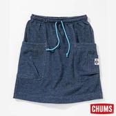 CHUMS 日本 女 口袋造型裙 霧深藍 CH181066N018