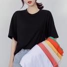 ins網紅素色超火短袖t恤女夏季2021新款韓版潮寬鬆百搭半袖上衣服 童趣屋 免運