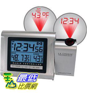 [美國直購ShopUSA] 排名18 室內室外溫度鬧鐘 La Crosse Technology Projection Alarm Clock with Outdoor $2369