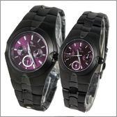 【萬年鐘錶】 Roven Dino 羅梵迪諾 楊丞琳代言 全黑紫對錶 RD9801B-RD9802B