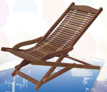 【南洋風休閒傢俱】戶外躺椅系列 -戶外實木躺椅 游泳池躺椅 摺疊躺椅(660-9)