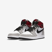 Nike Air Jordan 1 Retro High OG GS Light Smoke Grey 白 灰 紅 女鞋 籃球鞋 【PUMP306】 575441-126