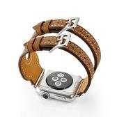 錶帶apple watch真皮錶帶蘋果iwatch雙扣手錶帶1/2/3代38/42mm 野外之家