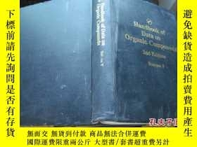 二手書博民逛書店Handbook罕見of Data on Organic Com