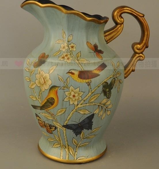【協貿國際】歐式美式陶瓷花瓶擺件仿真花花器