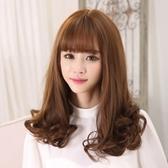 整頂假髮(長髮)-優美氣質逼真齊瀏海女假髮3色73ef64【時尚巴黎】