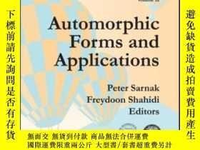 二手書博民逛書店Automorphic罕見Forms And ApplicationsY364682 Sarnak, Pete
